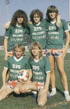 Def Leppard pre-accident Rick playing football/soccer.