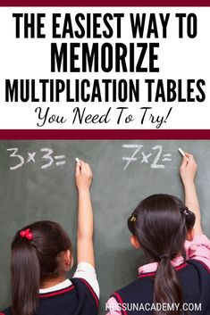 What's the easiest way to memorize multiplication tables? We find the best way to memorizing multiplication facts is with multiplication songs. Math songs are an easy math hack for learning times tables quickly! Learning Multiplication Facts, Math Facts, Teaching Math, Math Fractions, Maths, Multiplication Activities, Numeracy, Math Activities, Simple Math