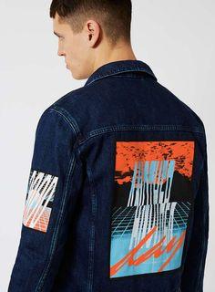 Blue Back Patch Denim Jacket