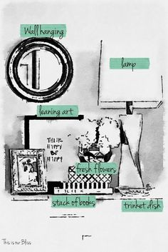 How to style a nightstand - elements of a well-styled nightstand - waterlogue nightstand styling photo - this is our bliss