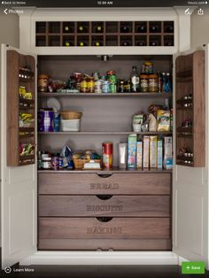 Pantry Cabinet, can be free standing or built-in.