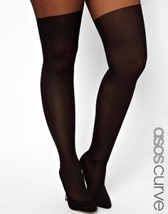 Image 1 of ASOS CURVE Tights With Over The Knee Mock Sock