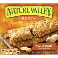 Valley Crunchy Peanut Butter Granola Bars - Nature Valley Crunchy Peanut Butter Granola Bars - only this flavor.Nature Valley Crunchy Peanut Butter Granola Bars - only this flavor. Granola Bars Peanut Butter, Crunchy Granola, Accidentally Vegan Foods, Gourmet Recipes, Snack Recipes, Vegan Recipes, Sweet Recipes, Nature Valley Granola, Vegan Food List