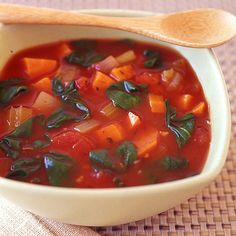 Slow Cooker Vegetable Soup Here's an Italian-spin on our famous vegetable soup. We made it in a slow cooker but it can be simmered on the stove top just as well. Slow Cooker Vegetable Soup Recipe, Italian Vegetable Soup, Veg Soup, Vegetable Soup Recipes, Slow Cooker Recipes, Weight Watcher Vegetable Soup, Healthy Cooking, Healthy Eating, Healthy Life