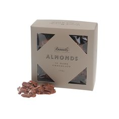 NUTS about Dad! Slivered almonds in dark chocolate will wow Dad this Father's Day. Almonds, Fathers Day, Place Card Holders, Chocolate, Dark, Gifts, Presents, Schokolade, Almond Joy