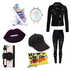 """""""Untitled #8"""" by hasanovicm ❤ liked on Polyvore featuring adidas, Superdry, Jimmy Choo, Lime Crime, rag & bone and Kate Spade"""