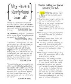 download or print scripture journal ideas from Dana Cockrum