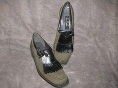 Vintage Stuart Weitzman Kiltie Tweed Loafers 8 by LIFEofOLWEN, $39.99