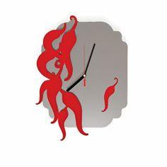 <3 Peperoncino!  #chilli #hot #lamidea #kitchen #gift #wall #clock #dining
