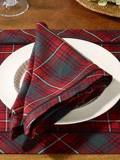 Ralph Lauren tartan napkins