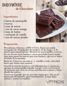 Hmm! Un brownie de chocolate siempre es bienvenido. Aquí tienes una fácil receta para prepararlo. #VitrosRecetas #Vitrostienda