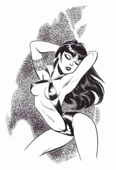 Bruce Timm - Vampirella, in Kevin Ono's Bruce Timm (nudity) Comic Art Gallery Room Bruce Timm, Sexy Drawings, Art Drawings, Meninas Comic Art, Comic Art Girls, Vampire Art, Comic Kunst, Comic Artist, Comic Books Art