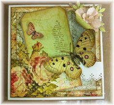 brown paper sack easter cards | Brown Paper Bag Card - Pink Paisley