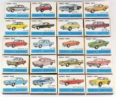 Full set 20 Vintage Corgi Toys promotional match boxes