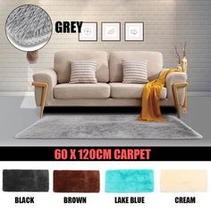 1318ae617a 〠Big Sales〠23x47 inch Soft Rug Rectangle Oblong Shape Bedroom Fluffy  Rugs