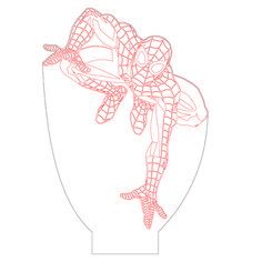 Spiderman 3 3d illusion vector file for CNC - 3bee-studio