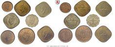 RITTER Britisch-Indien, Bombay, George VI., Satz, 8 Münzen #coins