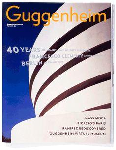 Verlag. Guggenheim magazine designed by Abbott Miller with type by Jonathan Hoefler