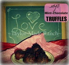 Truffles Are So Expensive But I Love Them!  Here's An Easy Inexpensive Recipe For Chocolate-Dipped Truffles. #TaylorMadeRanch