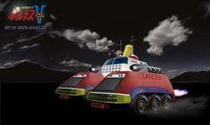 Volt Lander - 05 - Jamie Robinson Super Robot, Cool Artwork, Happy Day, Robots, Monster Trucks, Childhood, Angeles, Collection, Infancy