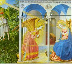 Fra Angelico, La anunciación, El Prado
