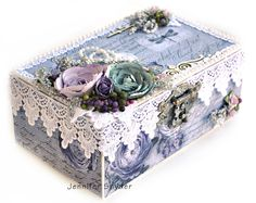 Altered Box - Flying Unicorns and FabScraps - Scrapbook.com