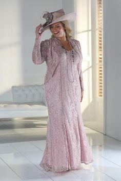 af1e9ba80f Florentyna Dawn Delicate Pink Lace Gabriella Dress  amp  Jacket Size 6-50   plussize