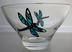 Hand painted Dragonfly Bowl £12.50