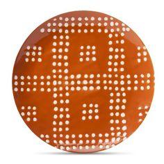 Threshold™ Orange Flare Geometric Appetizer Plate Set of 4