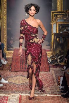 Milan Fall 2016 Trends | All-over sequins at Moschino RTW Fall 2016 #MFW [Photo: Giovanni Giannoni]