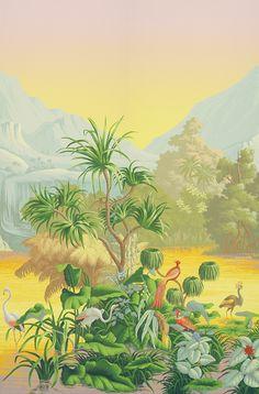 Papier peint Brésil (De Gournay)