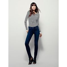 Lightweight Stretch Skinny ($100) ❤ liked on Polyvore featuring jeans, zipper skinny jeans, low rise skinny jeans, super skinny jeans, denim skinny jeans and skinny jeans