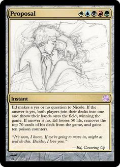 Magic: The Gathering Proposal. An amazing original idea