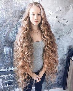 Curls For Long Hair, Very Long Hair, Long Curly Hair, Big Hair, Hair 24, Donate Your Hair, Rapunzel Hair, Permed Hairstyles, Silky Hair