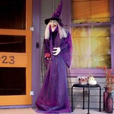 6 Ft Standing Halloween Witch $49.99