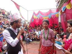 Meanwhile in #Nepal, young people are raising awareness about trafficking and children's rights through street drama.