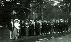 1909 - Opening of a larger and improved bowling green, Clissold Park, Stoke Newington