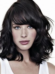 Shoulder Length Curly Hairstyles With Fringe Layer Bangs