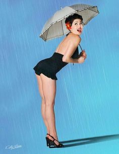 The Rebel PIN-UP Page: SWEET IN THE RAIN  © Photo by Kelly Hsiao Photography  http://kellyhsiao.com  www.facebook.com/bayareapinups    Posted by: pinuppage.blogspot.com