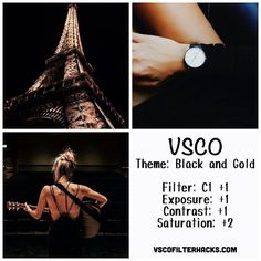 Black and Gold Instagram Feed Using VSCO Filter C1