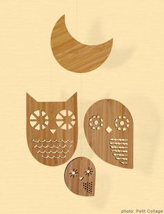 We love the little birdie and owl mobile for children! Another fun mobile idea!