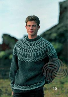 - Icelandic Dropar (Drops) Mens Wool Sweater Green - Tailor Made - Nordic Store Icelandic Wool Sweaters - 1 Sweater Knitting Patterns, Knitting Designs, Hand Knitting, Mens Knit Sweater Pattern, Mohair Sweater, Men Sweater, Sweaters For Women, Mens Wool Sweaters, How To Dress For A Wedding