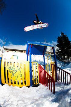 Bucket list: snowboard in town! .. Not at a snowboard hill!:)