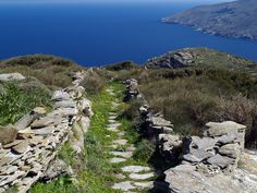 Hiking in Andros island, Cyclades, Greece. The best way to explore the island. Andros Greece, Hiking, Magic, Island, Adventure, Mountains, World, Water, Travel