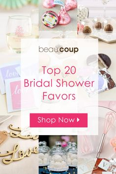 Time to plan for your perfect bridal shower! Check out our top 20 favorite bridal shower favors to make your search a little easier! All of our brides-to-be love the personalized wedding and the - March 09 2019 at Bridal Shower Planning, Wedding Shower Favors, Bridal Shower Party, Bridal Shower Decorations, Baby Shower Favors, Shower Gifts, Diy Wedding, Wedding Decorations, Wedding Ideas