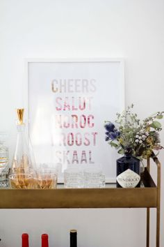 "Birch + Bird: ""Cheers Around the World"" print by Bluebird Kisses"