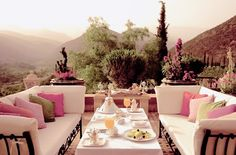 rooftop dining area.