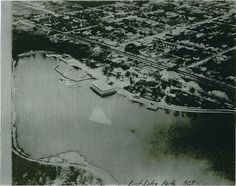 1925 Aerial View of East Lake Park  Wooden Roller Coaster Can Be Seen in Background Near First Avenue North