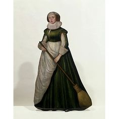 1630-50 Woman with Broom (Dummy board) | V Search the Collections