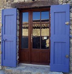 I love this color green for a house like slate blue but for Slate blue front door